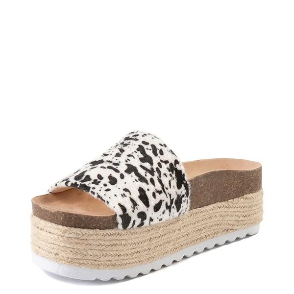 alternate view Womens Dirty Laundry Pippa Platform Slide Sandal - CreamALT3