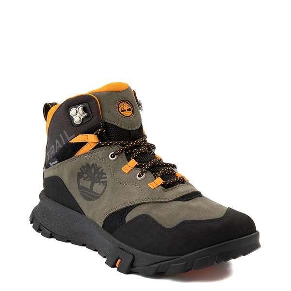 alternate view Mens Timberland Garrison Trail Mid Waterproof Hiker Boot - Dark GreenALT1