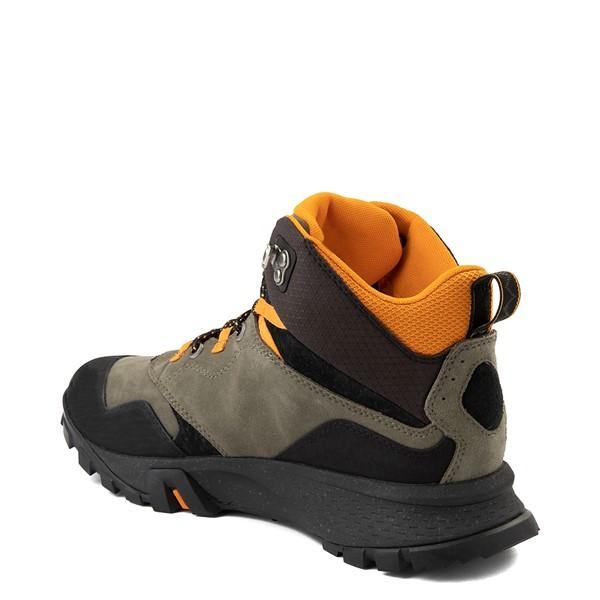 alternate view Mens Timberland Garrison Trail Mid Waterproof Hiker Boot - Dark GreenALT2