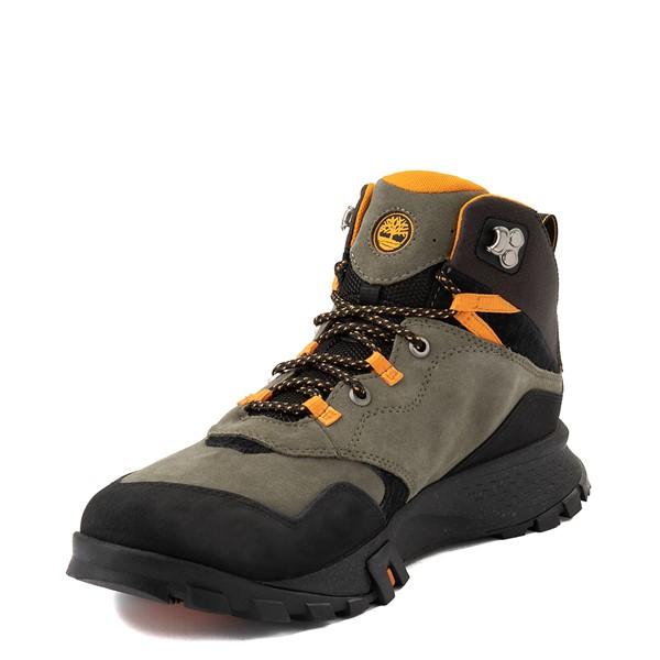 alternate view Mens Timberland Garrison Trail Mid Waterproof Hiker Boot - Dark GreenALT3