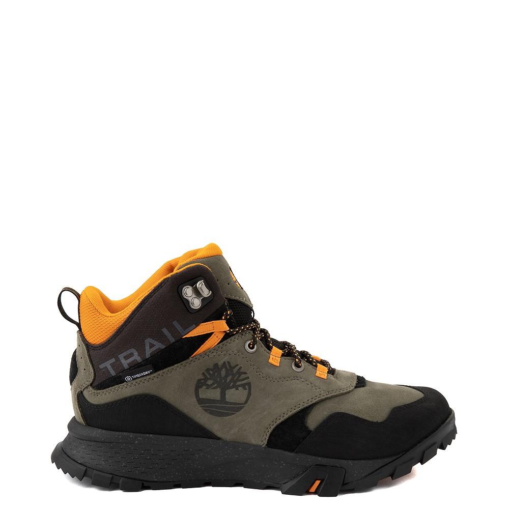 Mens Timberland Garrison Trail Mid Waterproof Hiker Boot - Dark Green