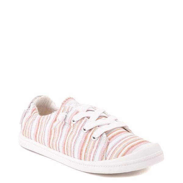 alternate view Womens Roxy Bayshore Casual Shoe - White / Pink StripesALT1