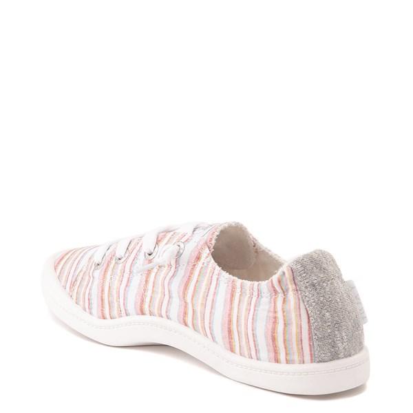 alternate view Womens Roxy Bayshore Casual Shoe - White / Pink StripesALT2