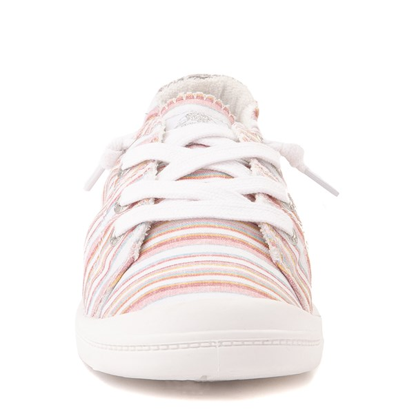 alternate view Womens Roxy Bayshore Casual Shoe - White / Pink StripesALT4