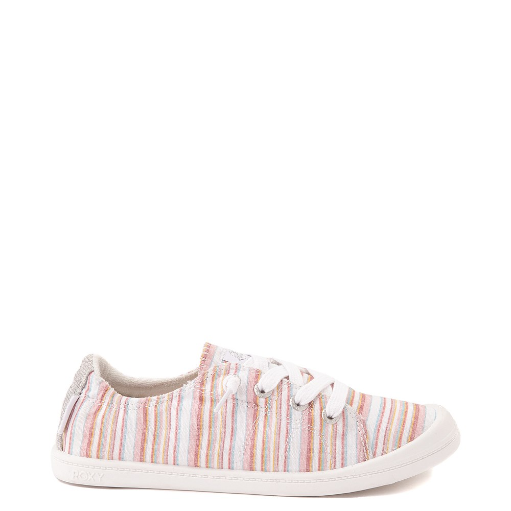 Womens Roxy Bayshore Casual Shoe - White / Pink Stripes