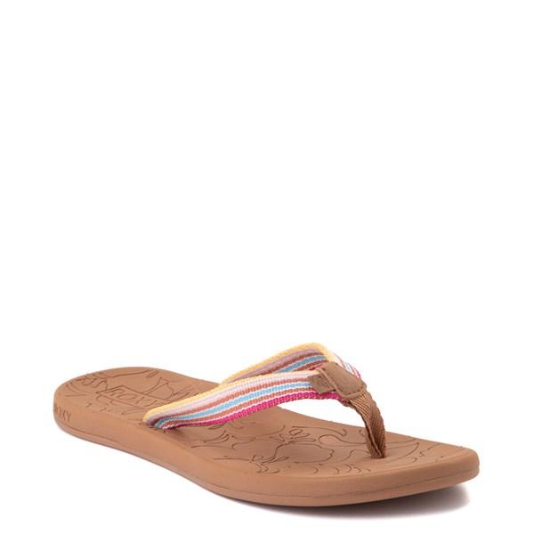 alternate view Womens Roxy Colbee Sandal - Pink / MulticolorALT1