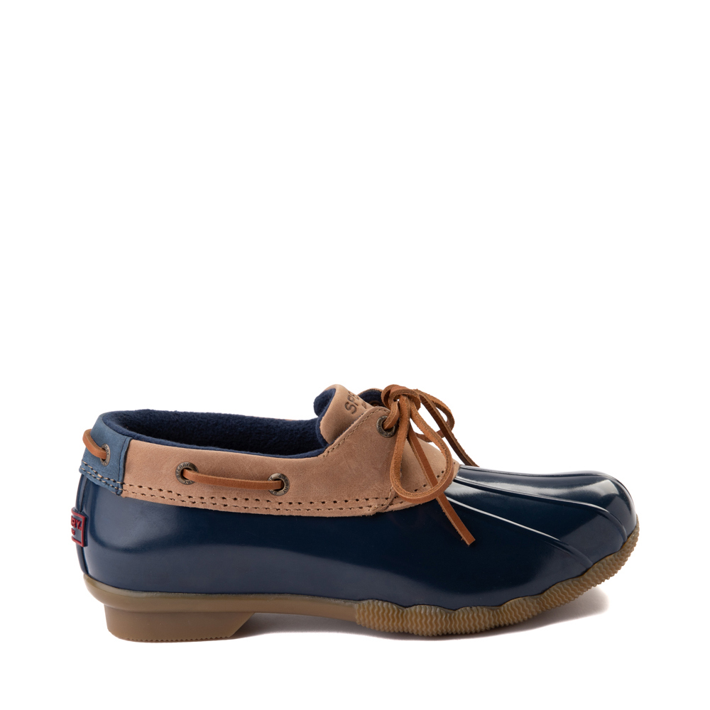Womens Sperry Top-Sider Saltwater 1-Eye Boot - Tan / Navy