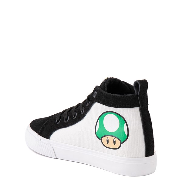 alternate view Super Mario Power-Up Hi Sneaker- Little Kid / Big Kid - Black / WhiteALT1