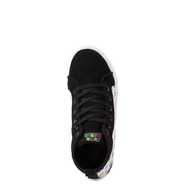 alternate view Super Mario Power-Up Hi Sneaker- Little Kid / Big Kid - Black / WhiteALT4B