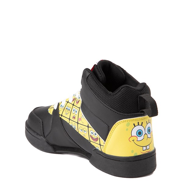 alternate view Ground Up Spongebob Squarepants™ Hi Sneaker - Little Kid / Big Kid - Black / YellowALT1
