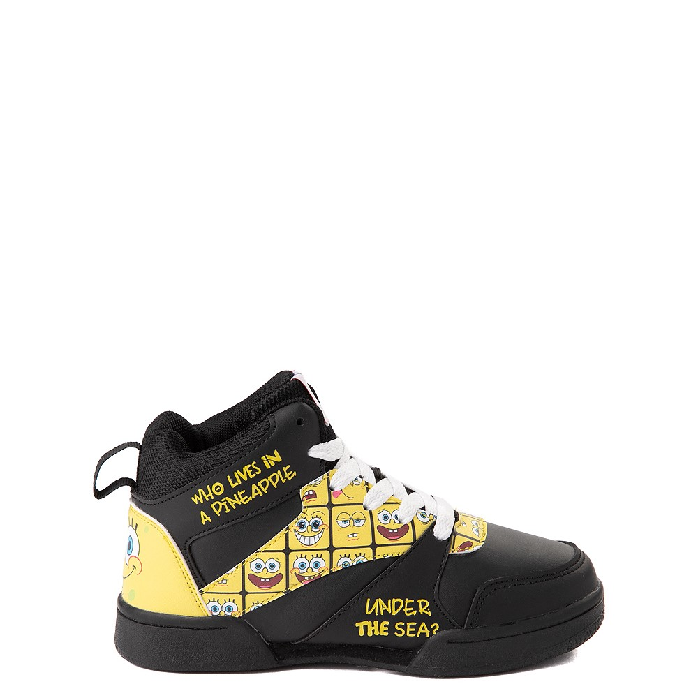 Ground Up Spongebob Squarepants™ Hi Sneaker - Little Kid / Big Kid - Black / Yellow