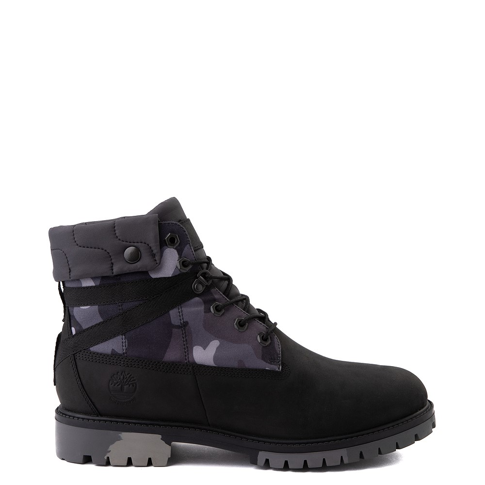 """Mens Timberland Heritage Earthkeepers®+ 6"""" Boot - Black / Gray Camo"""