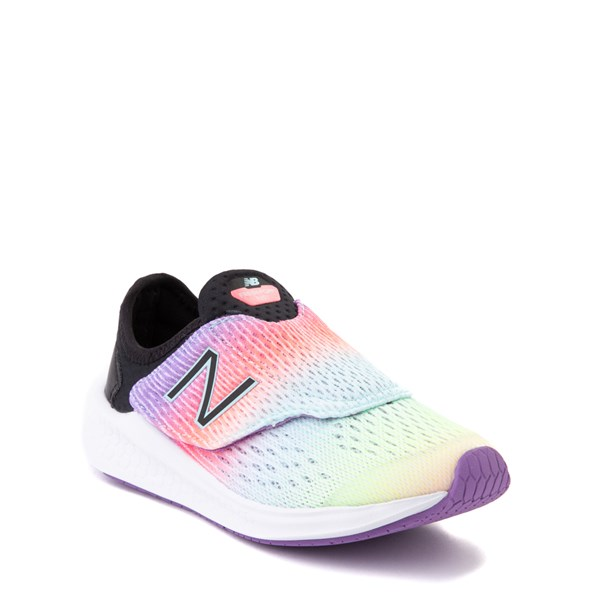 alternate view New Balance Fresh Foam Fast Athletic Shoe - Little Kid - Neo Violet / BlackALT1
