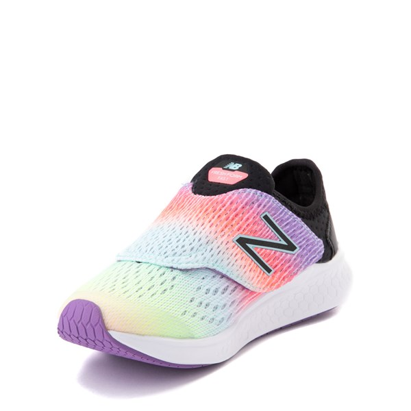 alternate view New Balance Fresh Foam Fast Athletic Shoe - Little Kid - Neo Violet / BlackALT3