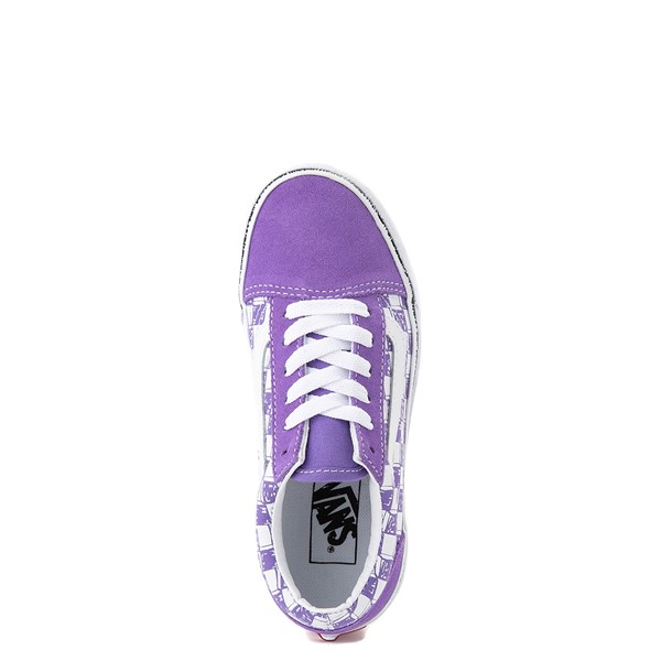 alternate view Vans Old Skool Sketch Checkerboard Skate Shoe - Little Kid - Dahlia PurpleALT4B
