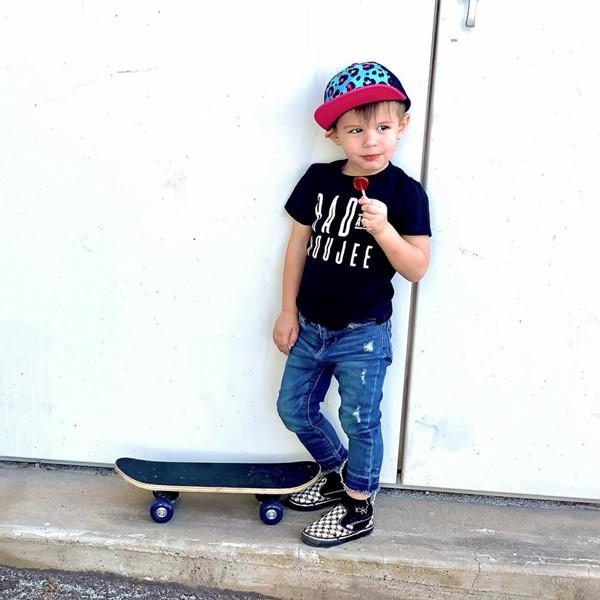 alternate view Vans Slip On V Sketch Checkerboard Skate Shoe - Baby / Toddler - Black / WhiteALT1B