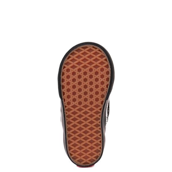 alternate view Vans Slip On V Sketch Checkerboard Skate Shoe - Baby / Toddler - Black / WhiteALT3