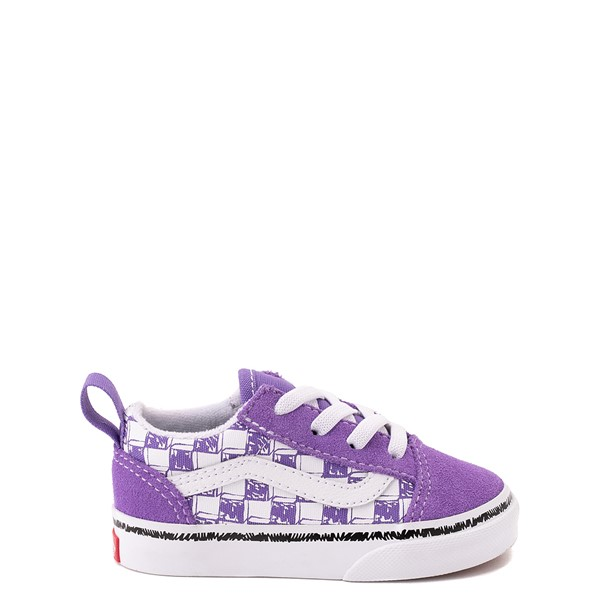 Vans Old Skool Sketch Checkerboard Skate Shoe - Baby / Toddler - Dahlia Purple