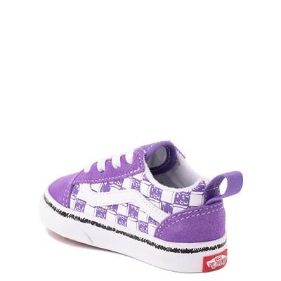 Alternate view of Vans Old Skool Sketch Checkerboard Skate Shoe - Baby / Toddler - Dahlia Purple