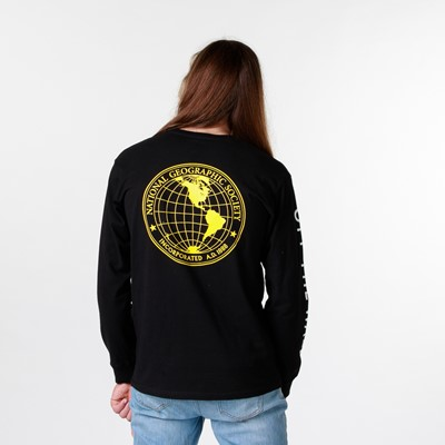 Main view of Mens Vans x National Geographic Long Sleeve Tee - Black