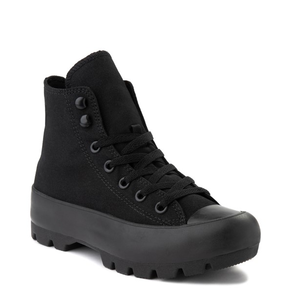 alternate view Womens Converse Chuck Taylor All Star Hi Lugged Sneaker - Black MonochromeALT1B