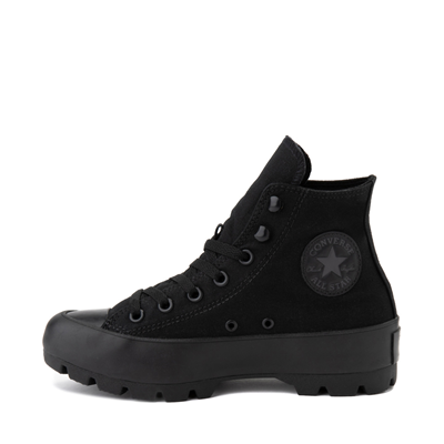 Alternate view of Womens Converse Chuck Taylor All Star Hi Lugged Sneaker - Black Monochrome