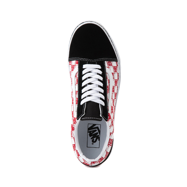 alternate view Vans Old Skool Sketch Checkerboard Skate Shoe - Black / Red / WhiteALT2