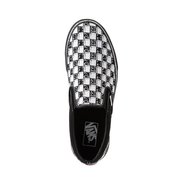 alternate view Vans Slip On Sketch Checkerboard Skate Shoe - Black / WhiteALT2