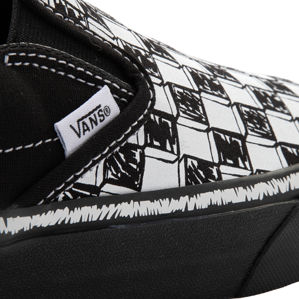 alternate view Vans Slip On Sketch Checkerboard Skate Shoe - Black / WhiteALT6
