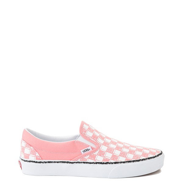 Vans Slip On Sketch Checkerboard Skate Shoe - Flamingo Pink