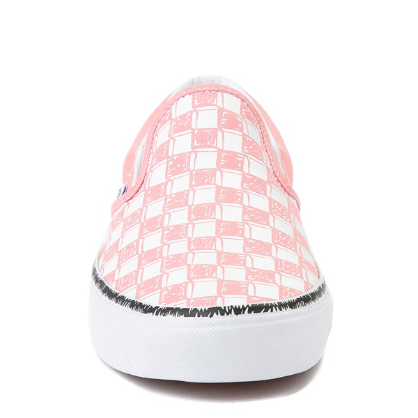 alternate view Vans Slip On Sketch Checkerboard Skate Shoe - Flamingo PinkALT4