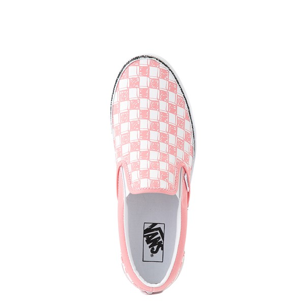 alternate view Vans Slip On Sketch Checkerboard Skate Shoe - Flamingo PinkALT4B