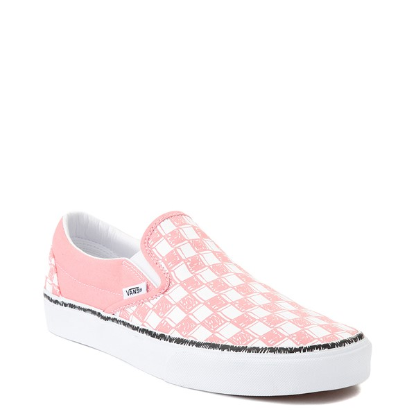 alternate view Vans Slip On Sketch Checkerboard Skate Shoe - Flamingo PinkALT5