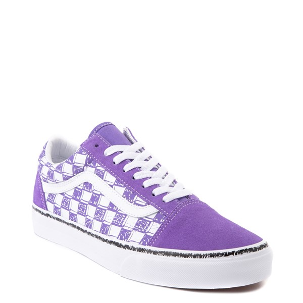 alternate view Vans Old Skool Sketch Checkerboard Skate Shoe - Dahlia PurpleALT5