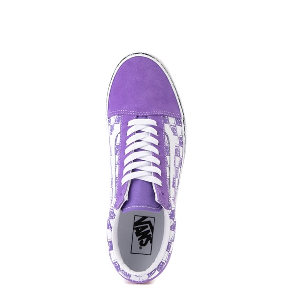 alternate view Vans Old Skool Sketch Checkerboard Skate Shoe - Dahlia PurpleALT6