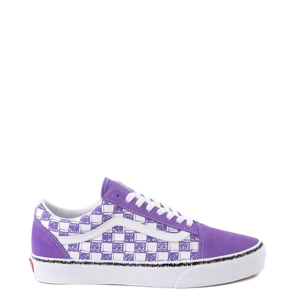 Vans Old Skool Sketch Checkerboard Skate Shoe - Dahlia Purple