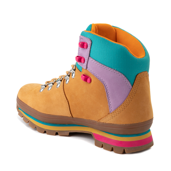 alternate view Womens Timberland Euro Hiker Boot - Wheat / Purple / TurquoiseALT1
