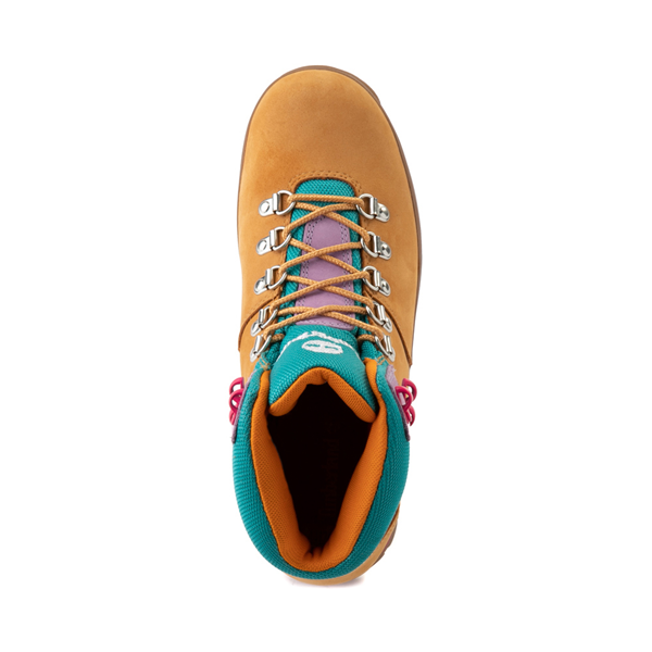 alternate view Womens Timberland Euro Hiker Boot - Wheat / Purple / TurquoiseALT2