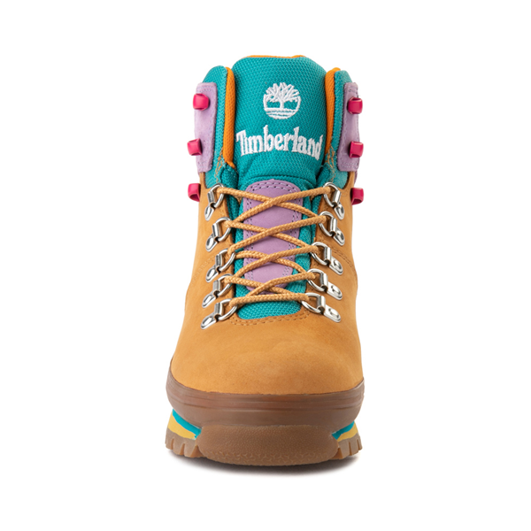 alternate view Womens Timberland Euro Hiker Boot - Wheat / Purple / TurquoiseALT4