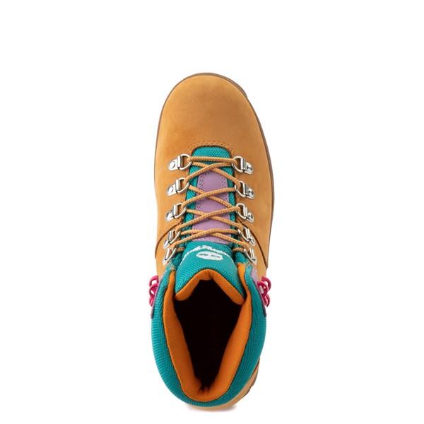 alternate view Womens Timberland Euro Hiker Boot - Wheat / Purple / TurquoiseALT4B