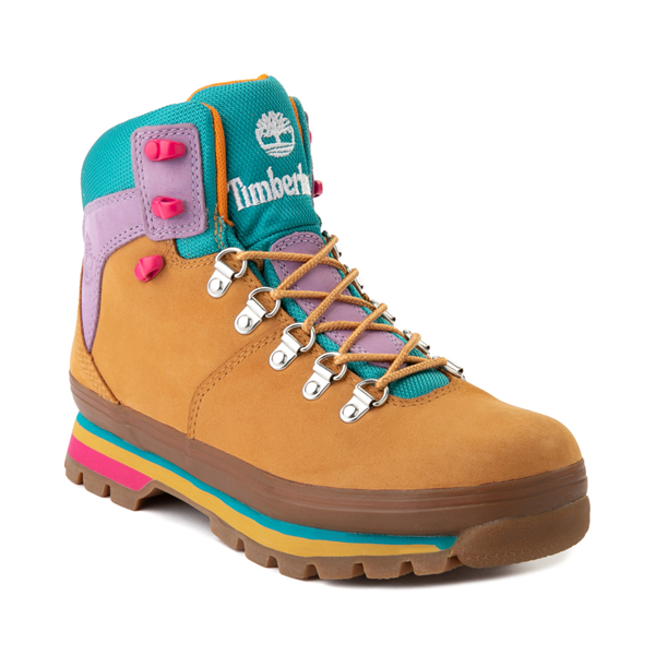 alternate view Womens Timberland Euro Hiker Boot - Wheat / Purple / TurquoiseALT5