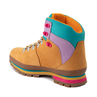 Alternate view of Womens Timberland Euro Hiker Boot - Wheat / Purple / Turquoise