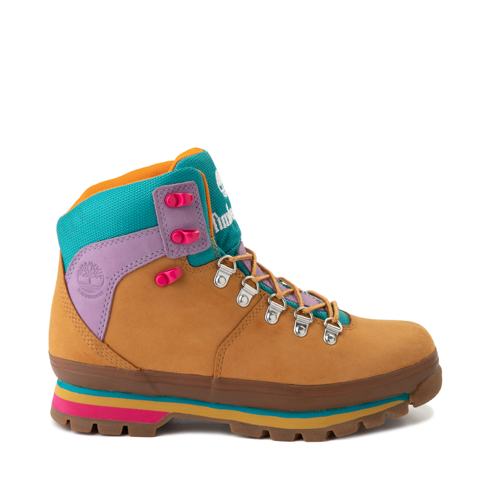 Womens Timberland Euro Hiker Boot - Wheat / Purple / Turquoise