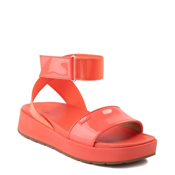 alternate view Womens UGG® Lennox Sandal - Pop CoralALT1