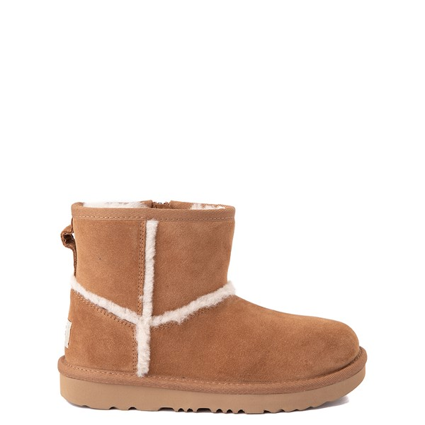 Main view of UGG® Classic Mini Fluff Spill Seam Boot - Little Kid / Big Kid - Chestnut