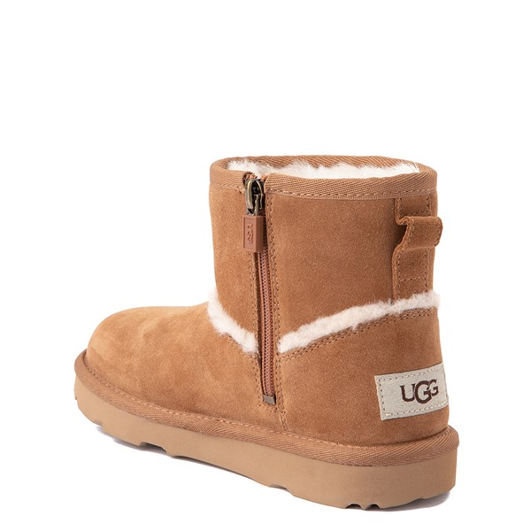 alternate view UGG® Classic Mini Fluff Spill Seam Boot - Little Kid / Big Kid - ChestnutALT1