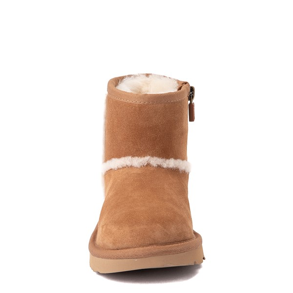 alternate view UGG® Classic Mini Fluff Spill Seam Boot - Little Kid / Big Kid - ChestnutALT4