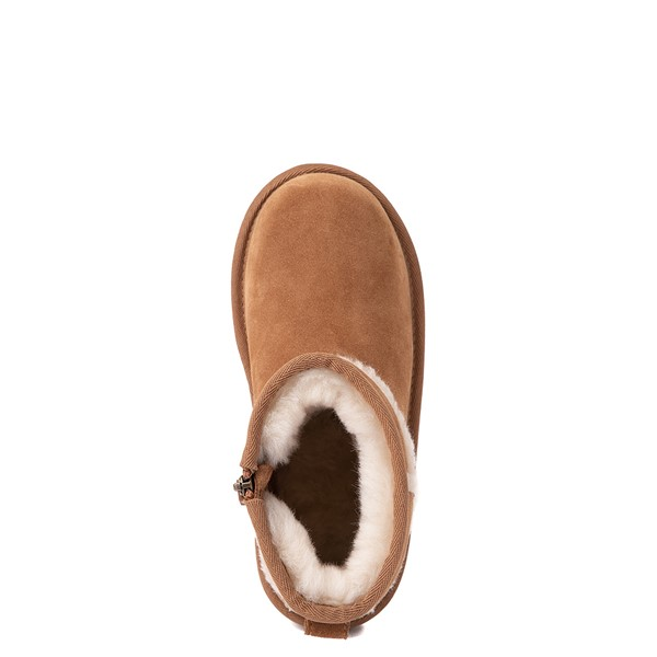 alternate view UGG® Classic Mini Fluff Spill Seam Boot - Little Kid / Big Kid - ChestnutALT4B