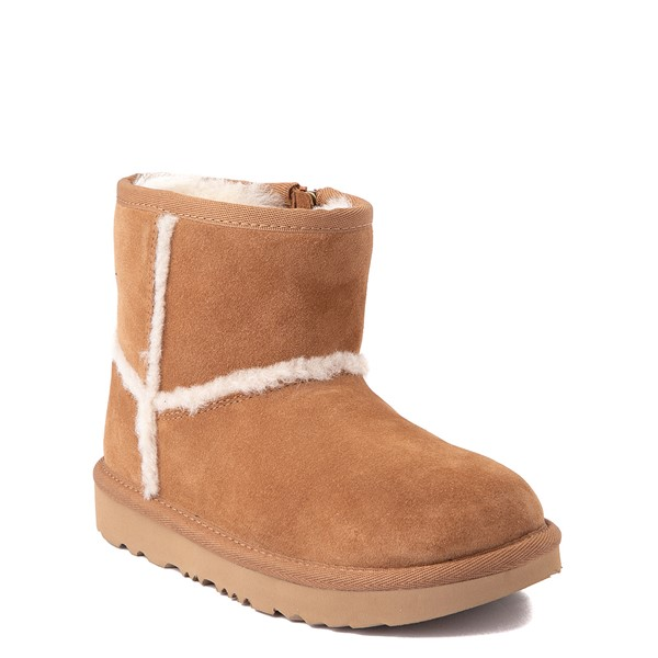 alternate view UGG® Classic Mini Fluff Spill Seam Boot - Little Kid / Big Kid - ChestnutALT5