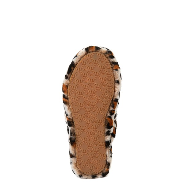 alternate view UGG® Fluff Yeah Slide Sandal - Little Kid / Big Kid - LeopardALT3